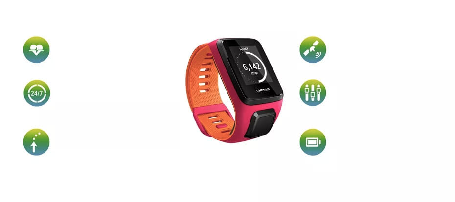 Multifunções - Relógio com GPS TomTom Runner 3 Cardio